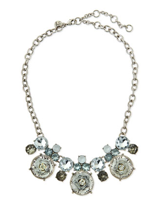 Floral Cabochon Statement Necklace
