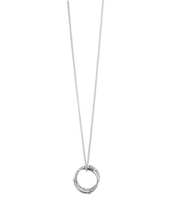 Bamboo Interlinking Diamond Pendant Necklace