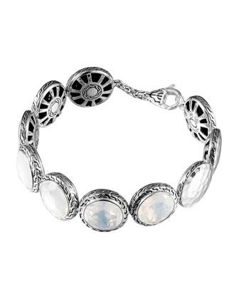 Batu Silver Moon Quartz Disc Bracelet