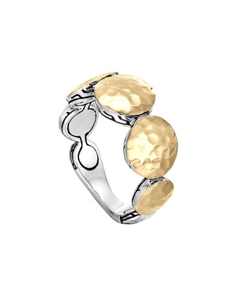 Palu Gold & Silver Round Disc Ring