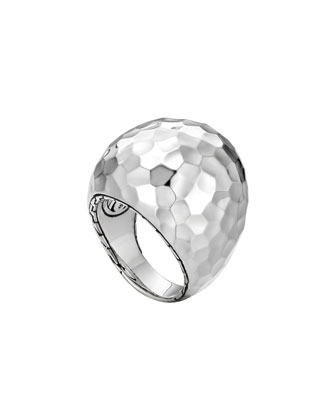 Palu Silver Dome Ring, Size 7