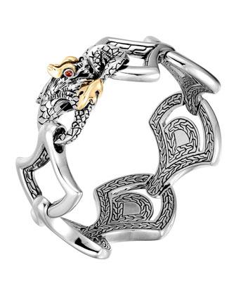 Naga Gold & Silver Large Scale Link Bracelet