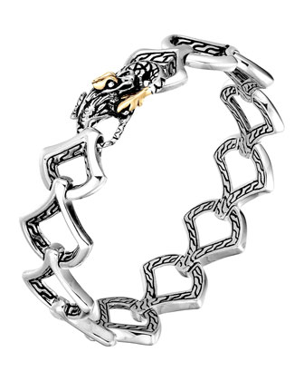 Naga Gold & Silver Medium Scale Link Bracelet