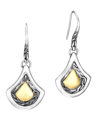 Naga Gold & Silver Drop Earrings