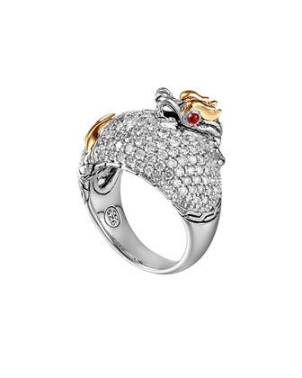 Naga Gold & Silver Diamond Dome Ring