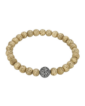 Lotus Seed Beaded Bracelet with Magnetic Clasp