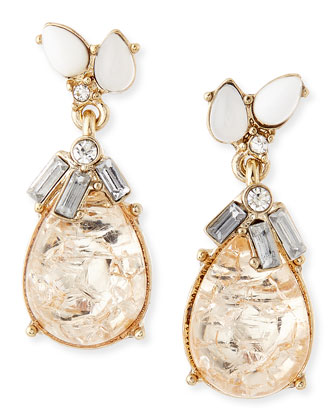Delicate Crystal Teardrop Earrings