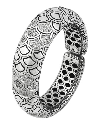 Diamond Pave Bold Flex Cuff