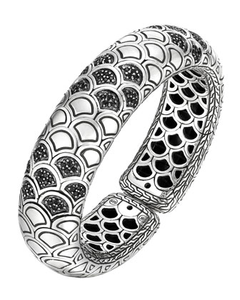 Naga Lava Bold Flex Cuff with Black Sapphire