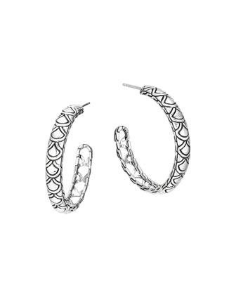 Naga Silver Large Hoop Earrings
