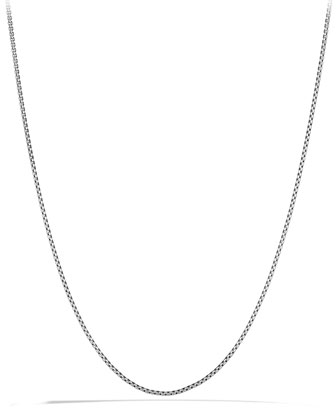 Box Chain Necklace with Gold, 18