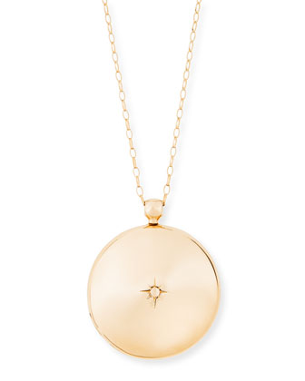 14k Rose Gold Large Astley Locket Necklace, 30