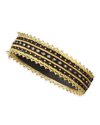 Midnight Sapphire & Diamond Huggie Bracelet