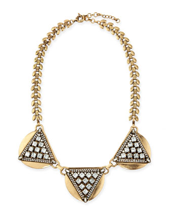 Crystal Triangle Collar Necklace