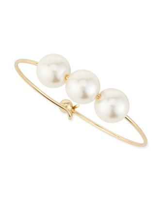 Triple Faux-Pearl Bracelet