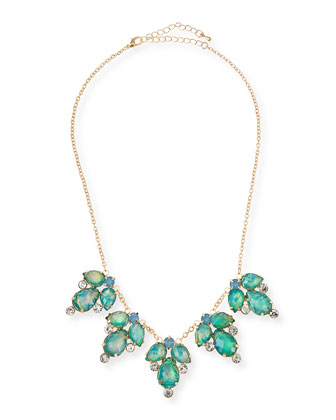Rhinestone Statement Necklace, Blue