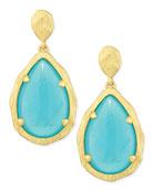 Teardrop Earrings, Mint