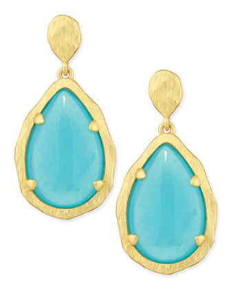 Teardrop Earrings, Mint