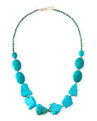 Long Turquoise Stone Necklace