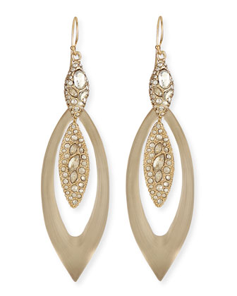 Marquis Lucite & Crystal-Encrusted Earrings