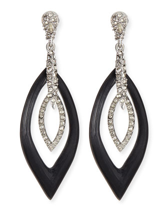 Orbital Marquise Crystal & Lucite Earrings