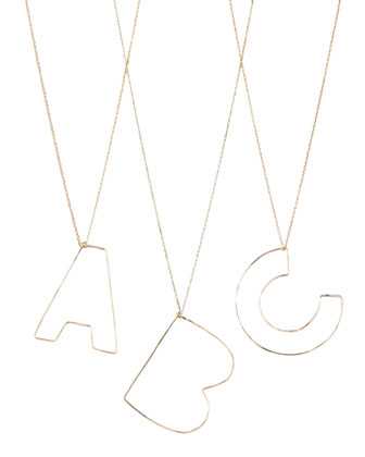 Letter-Pendant Necklaces, A-Z