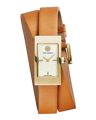 Buddy Signature Double-Wrap Watch, Tan