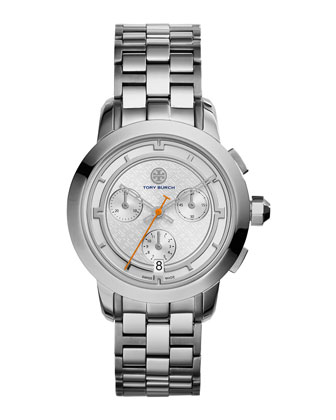 37mm Tory Stainless Chronograph Bracelet Watch