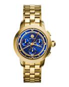 37mm Tory Chronograph Golden Bracelet Watch