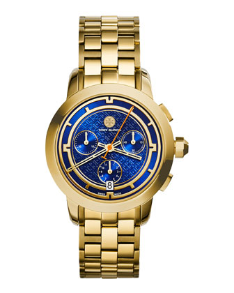 37mm Tory Chronograph Golden Bracelet Watch