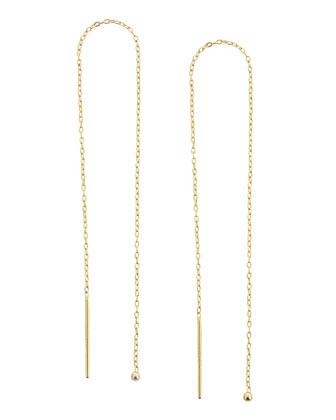 Golden Threaded String Earrings