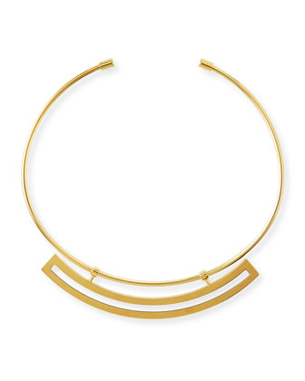 Polanco Gold-Plated Necklace, Cream