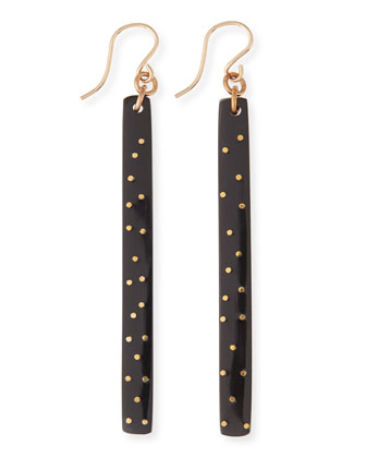 Konga Dark Horn Starry Stick Earrings