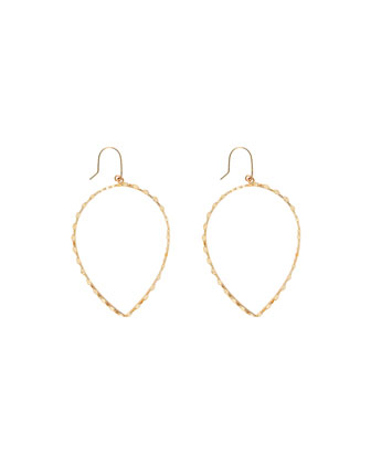 14k Small Glam Pear-Shape Hoop Earrings
