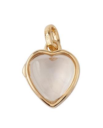 14k Gold Small Heart Locket, 12mm