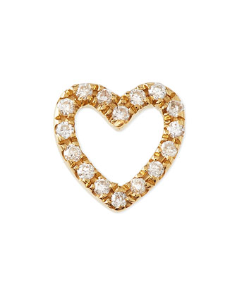 18k Gold Diamond Heart Charm for Locket