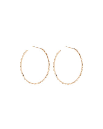 14k Glam Sunrise Small Hoop Earrings