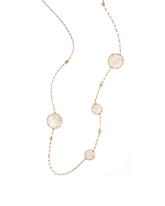 Blanca Long Disc-Station Necklace
