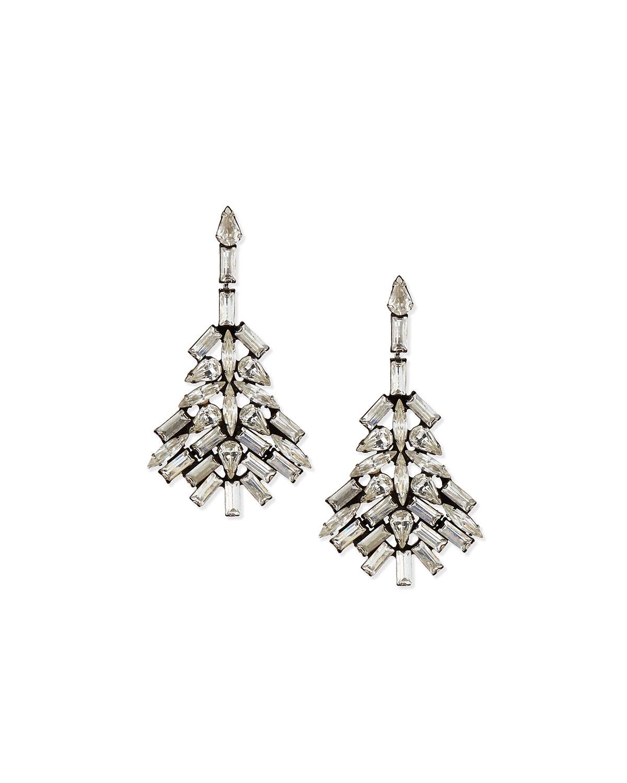 Maeve Chandelier Earrings, SILVER - Dannijo