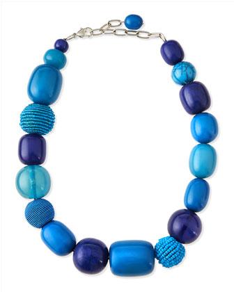 Galena Crepe Long Dress & Lauto Beaded Collar Necklace, Women's