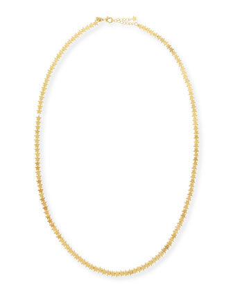 Long Star Chain Necklace, Gold-Plate