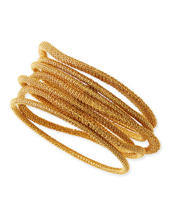 Thea Mesh Bangles, Set of 7