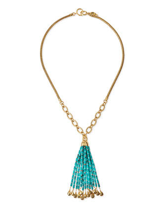 Marcelle Long Beaded-Tassel Necklace