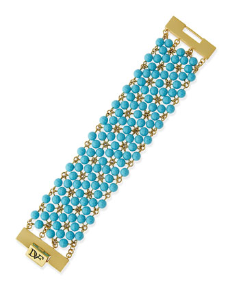 Honey Beaded Bracelet, Turquoise