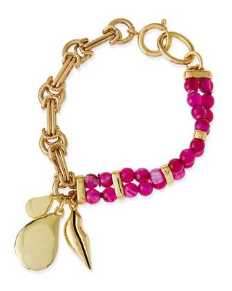 Maddie Beaded Charm Bracelet