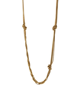 Gemma Knotted Long Necklace