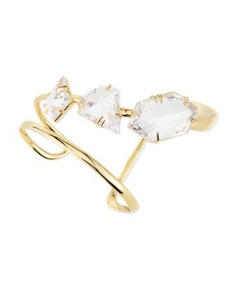 Golden Liquid Crystal Angular Cuff