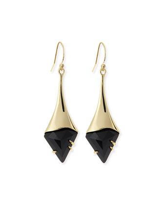 Crystal Shield Drop Earrings