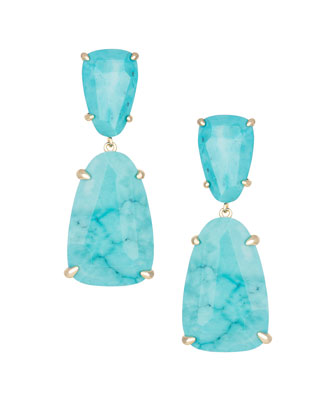 Katie Drop Earrings, Turquoise-Hue