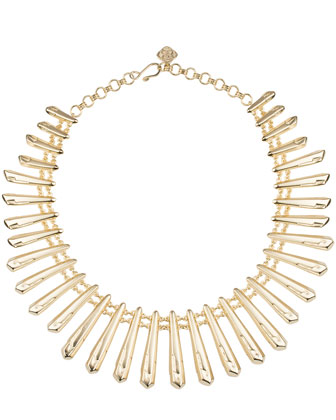 Jill Statement Necklace, Gold Plate